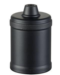 Raw Svart E27 Metallsockel från Halo Design