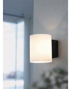 Evoke Glas Vit/Antracit Vägglampa från Herstal