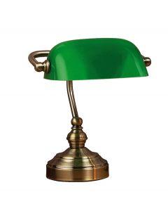 Bankers Grön 25cm Bordslampa från Markslöjd