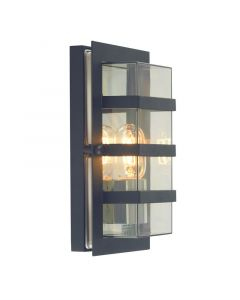 Boden Svart/Klar Ip54 Vägglampa från Norlys