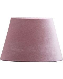 Oval Sammet Klar Rosa 25cm Lampskärm från Pr Home
