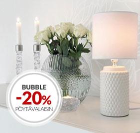 Tarjous Pöytävalaisimet Bubble Cottex -20%